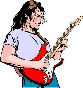 Rock Guitar Player Clip Art