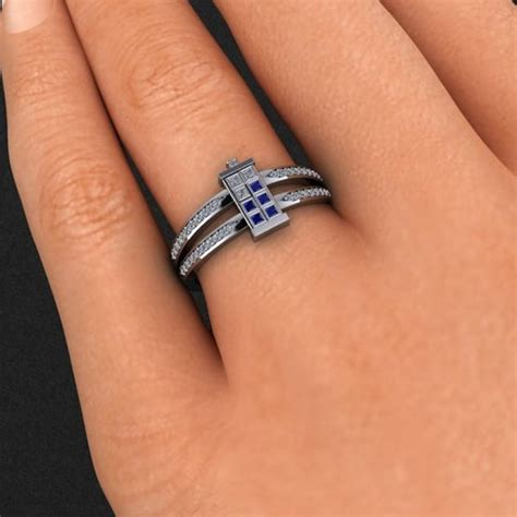 doctor who tardis ring mightymega