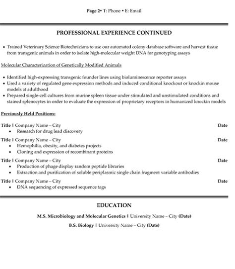 research scientist resume sle template