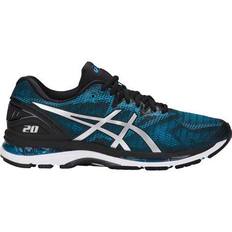 asics mens gel nimbus  running shoes island blueblack tennisnutscom