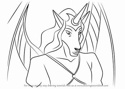 Gargoyles Draw Drawing Una Step Cartoon Tutorial