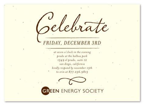 green corporate event invitations antique script