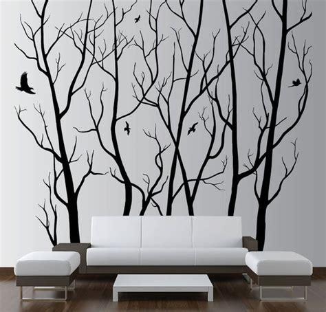 designer wall art decor vinyl tree forest
