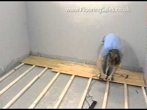 laying a floor junckers laying a floor over batons youtube
