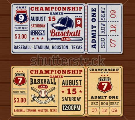 vintage ticket designs templates psd ai indesign