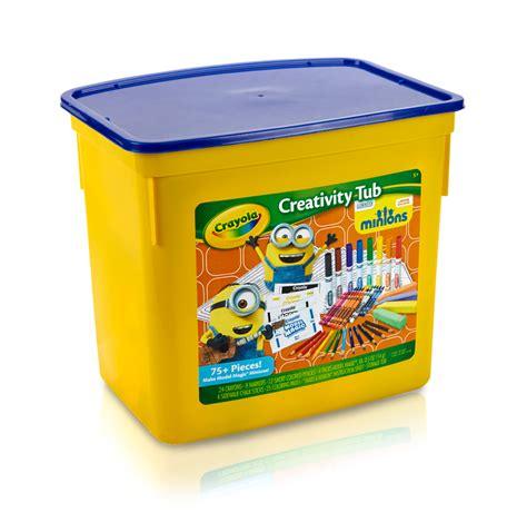 crayola minions creativity tub 04 5367 model magic markers