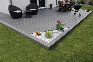 terrasse bois sur parpaing comment poser une terrasse en With jardin paysager avec piscine 5 terrasse en bois composite fiberon xtrem galaxy jardin