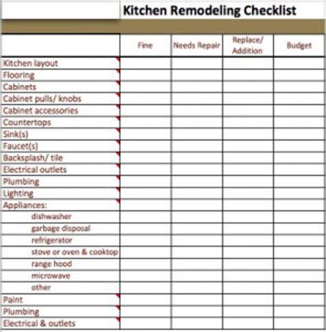 Bathroom Renovation Material List by Kitchen Design Checklist Kitchen Design