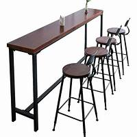 high table and chairs Yy iron bar snack bar and cafe tables and chairs against ...