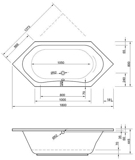 Sechseck Badewanne Maße by Sechseckbadewanne 180 X 80 X 44 5 Cm Bad Heizung Design