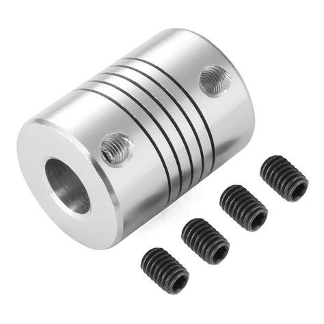 pcs cnc motor shaft coupler mm  mm flexible coupling     mm te ebay