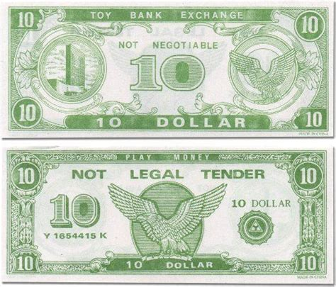 paper play money bulk   bills  package