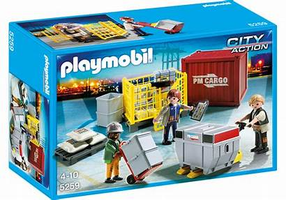 Playmobil 5259 Cargo Action Team Ouvriers Marchandises