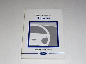 2002 Ford Taurus Owners Manual Book