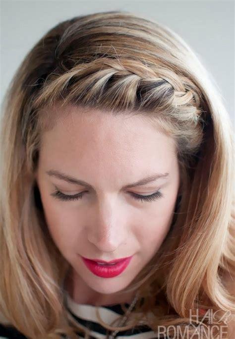 15 Braided Bangs Tutorials: Cute, Easy Hairstyles   Pretty