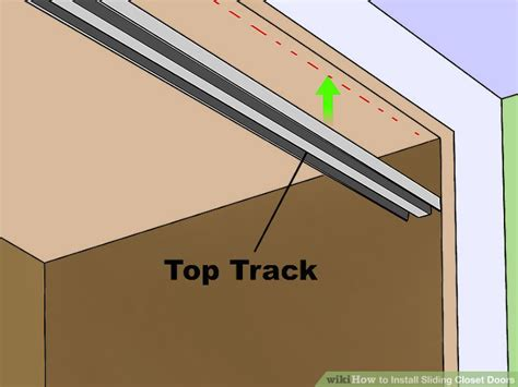 Closet Door Sliding Track by How To Install Sliding Closet Doors 13 Steps With Pictures