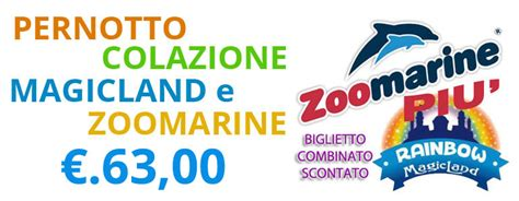 ingresso zoomarine rainbow magicland prezzi offerte e prezzi parco valmontone