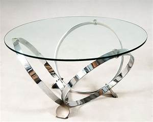 german round coffee table in glass and chrome tables and With round glass and chrome coffee table