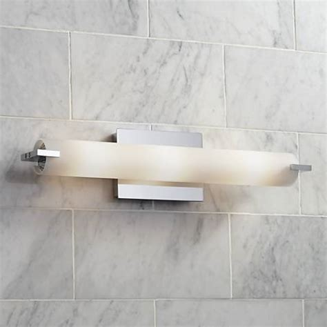george kovacs chrome   wide  bathroom light