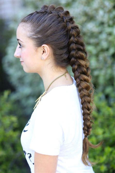 dragon braid hairstyles for girls two one sided dutch