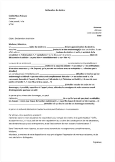modele lettre declaration sinistre secheresse comment d 233 clarer un sinistre 224 l assurance auto lelynx fr