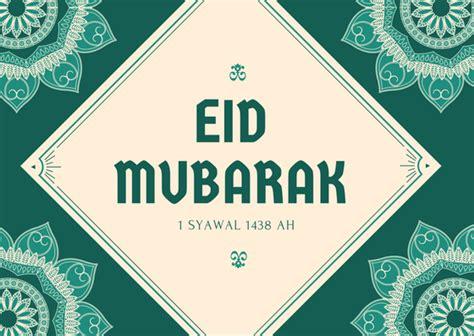 customizable eid mubarak greeting cards  canva
