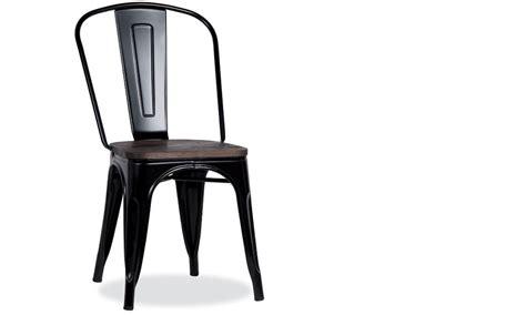 chaise en acier chaise industrielle en acier et bois