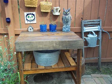 diy pallet garden work bench pallet furniture plans