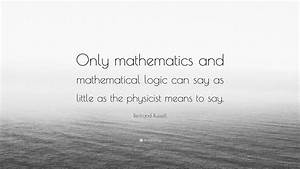 Bertrand Russel... Maths Logic Quotes