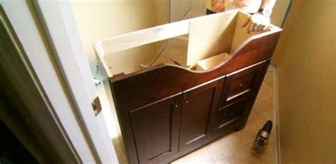 install  bathroom vanity todays homeowner