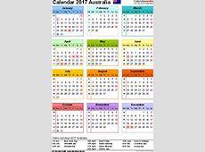 Australia Calendar 2017 Free Word Calendar Templates
