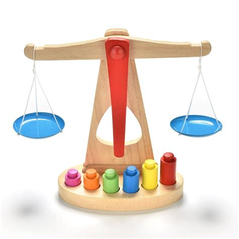 small learning wooden educational toy balance scale toy
