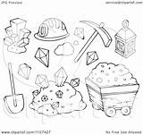 Mining Clipart Mine Items Outlined Gold Illustration Vector Royalty Visekart Coloring Pages Background Template Clipartpanda Templates Without Powerpoint sketch template