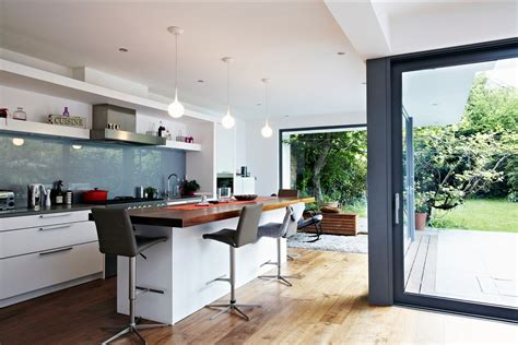 kitchen design ideas uk house with floor to ceiling glass and beautiful nature views
