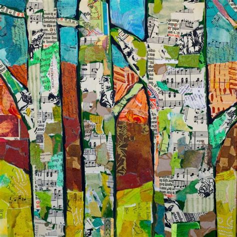 Collage Kunst Ideen by Collage Paint And Trees On