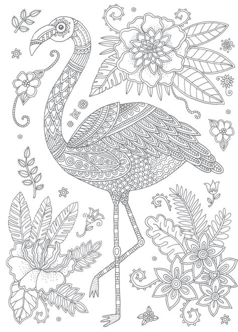 flamingo antistress coloring pages    print