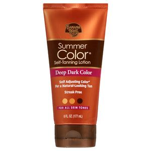 Banana Boat Self Tanning Lotion Before And After by Banana Boat Sunless Summer Color Self Tanning Lotion