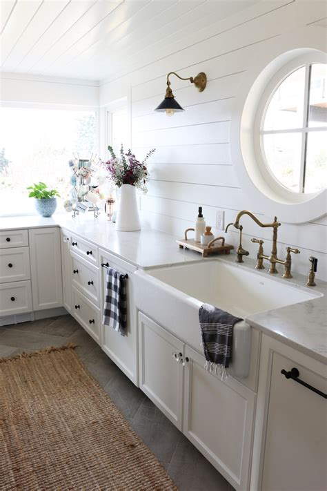 farmhouse style sink kitchen small kitchen remodel reveal the inspired room 7170