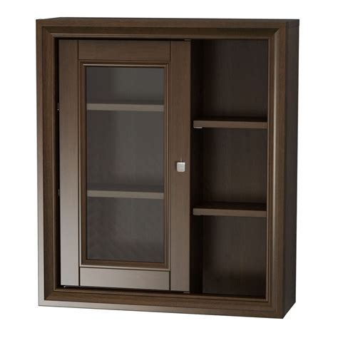 Shop allen   roth Caterton Java Wall Cabinet (Common: 22