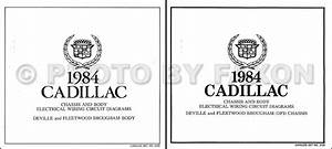 1984 Cadillac Deville And Fleetwood Gas Wiring Diagram Set