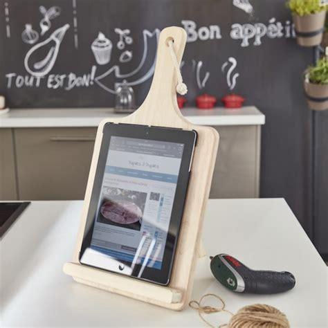 support tablette cuisine tuto créer un support pour tablette