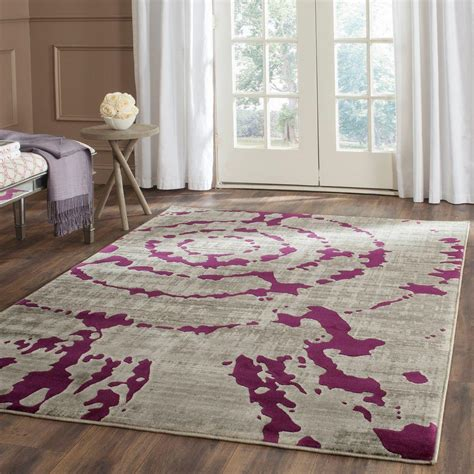 safavieh porcello grey rug safavieh porcello light grey purple 6 ft x 9 ft area rug