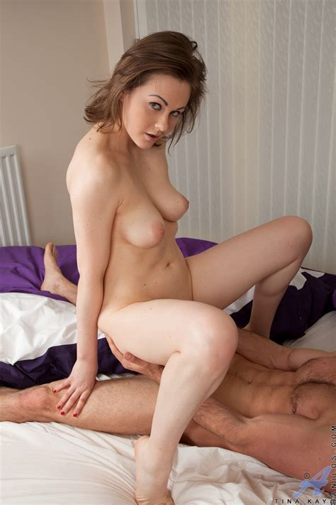 Brunette Housewife With Big Natural Tits Parking Milf Cunt Atop Cock