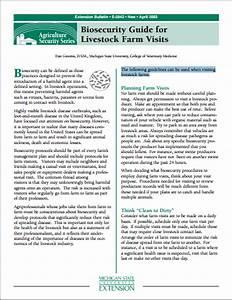 Biosecurity Guide For Livestock Farm Visits  E2842