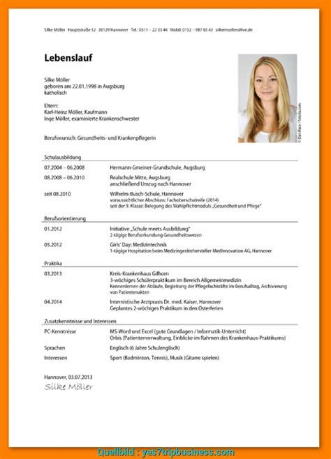 Lebenslauf Vorlage Student by Pr 228 Mie 18 Lebenslauf Student Vorlage Word