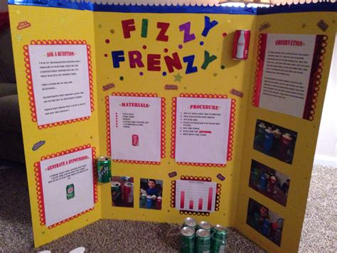 Elementary Science Fair Display Board Ians Learning