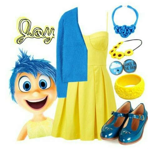 Deluxe Adult Inside Out Joy Costume Inside Out and