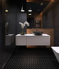 Black Bathroom Floor Tile