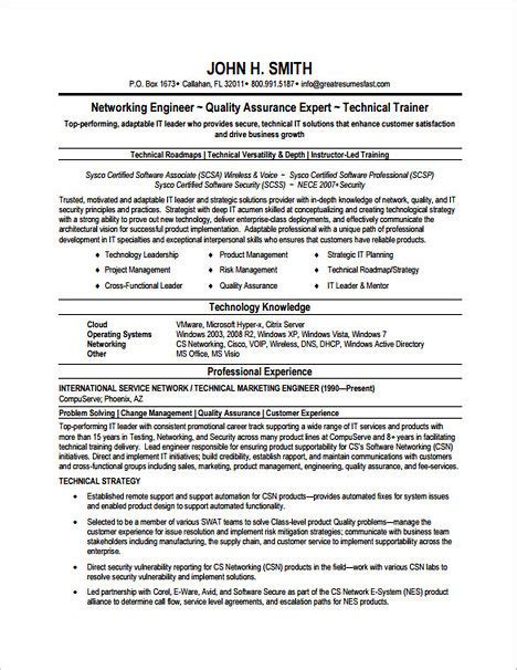 Networking Skills In Resume by Emphasize Your Skills In Your Network Engineer Resume