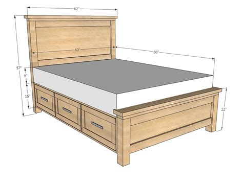 queen size bed frame plans bed plans diy blueprints